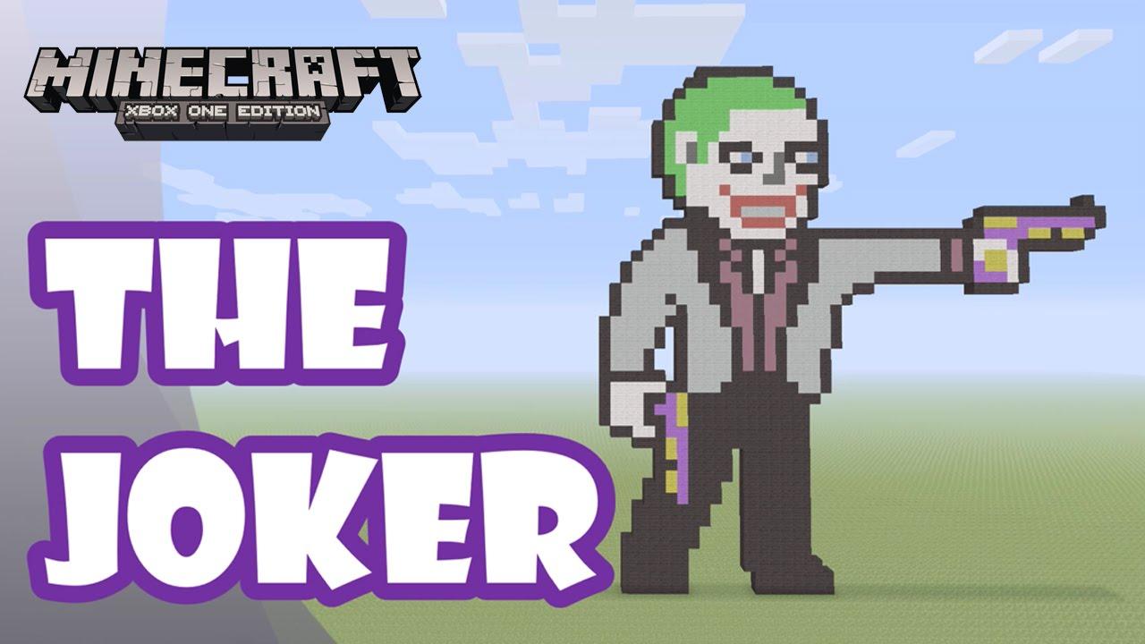 Minecraft: Pixel Art Tutorial And Showcase: The Joker