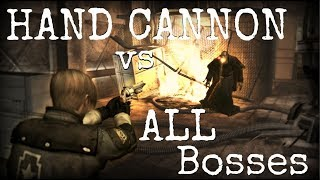 Resident Evil 4 HD - Killing ALL Bosses with the HAND CANNON - (STEAM)