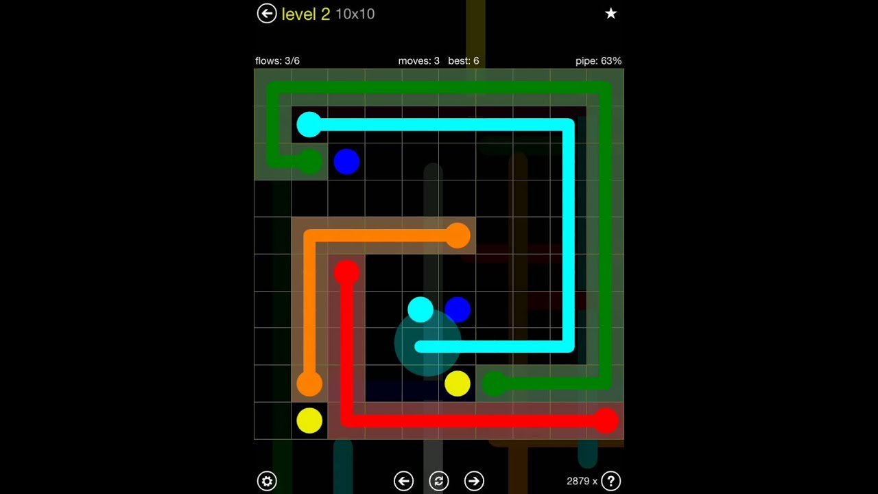 flow free extreme pack 2 10x10 level 2 youtube