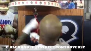 MIGUEL COTTO ON SPEED BAG MEDIA WORKOUT 11/4/15! COTTO VS CANELO 11/21/15 HBO PPV