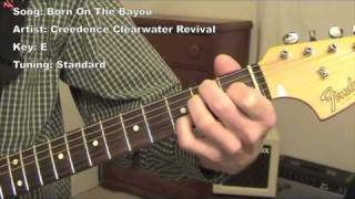 Born on The Bayou - guitar lesson