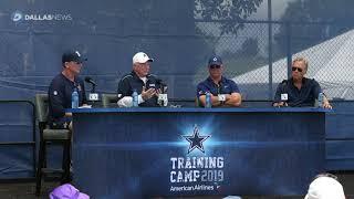 Cowboys' Jerry Jones, Jason Garrett announce Ezekiel Elliott is officially late to training camp