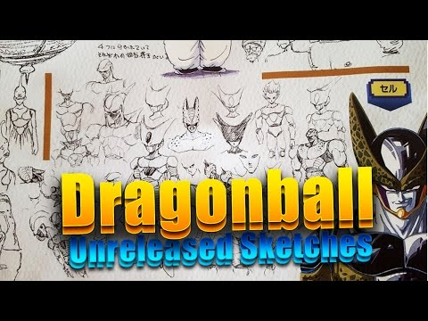 Akira Toriyama Dragonball Sketches Unreleased Rough Sketches