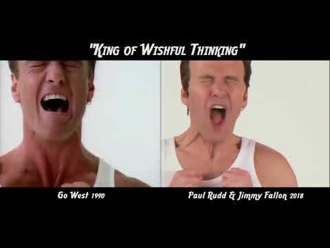 'King of Wishful Thinking' - Go West versus Paul Rudd & Jimmy Fallon Comparison