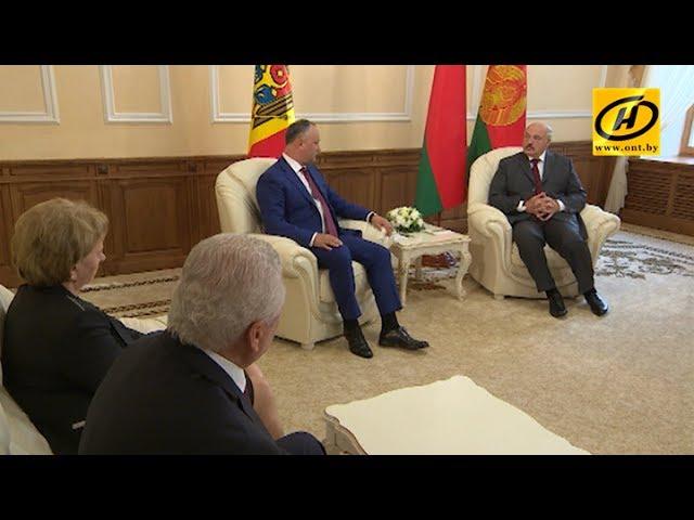 Александр Лукашенко провёл встречу с президентом Молдовы