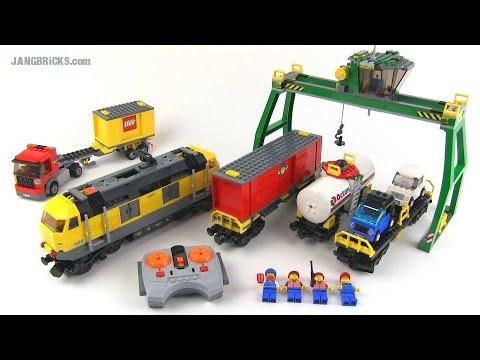 LEGO City 2010 yellow Cargo Train set 7939 Review!