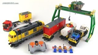 LEGO City 2010 yellow Cargo Train set 7939 Review!