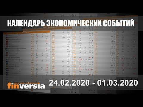 Календарь экономических событий. 24.02.2020 - 01.03.2020 от Finversia.ru