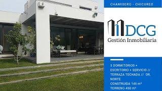 Venta Casa Chamisero, 3 DOR. + ESC. (PIEZA BEBE), DOR. SERVICIO, PISCINA, QUINCHO