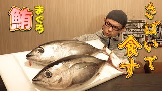 【MUKBANG】Marinated Tuna Bowl With Bigeye Tuna ~Fillet With My New Knife~