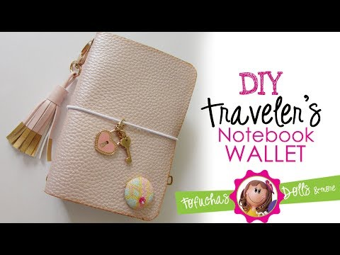 DIY Easy Traveler's Notebook Wallet - Faux Leather & Scrapbook paper - No Sew