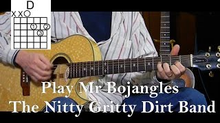 How to Play Mr Bojangles - Nitty Gritty Dirt Band - Learn Rock/Pop Songs on Guitar