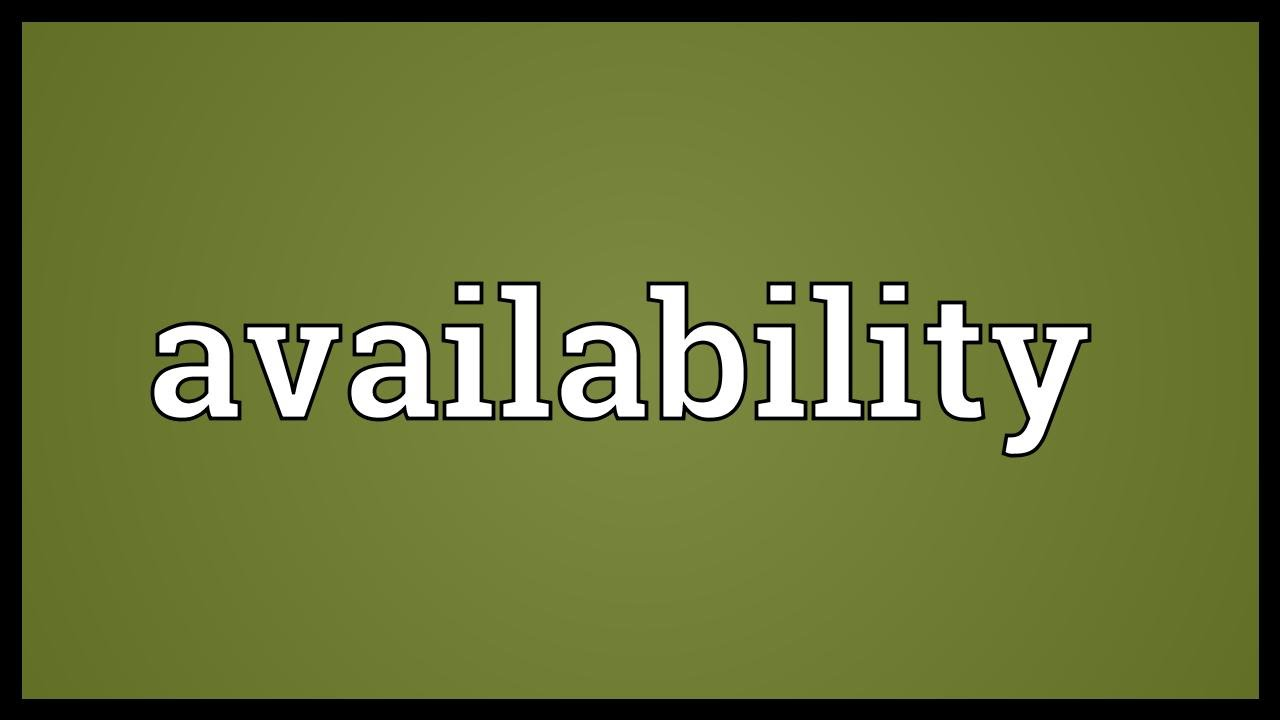 Availability Meaning - YouTube