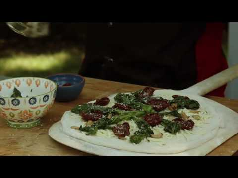 How to Make Broccoli Rabe Pizza in a Wood Fired Brick Oven