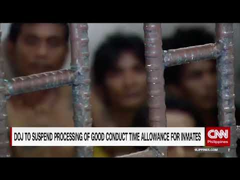 DOJ to suspend processing of good conduct time allowance for inmates