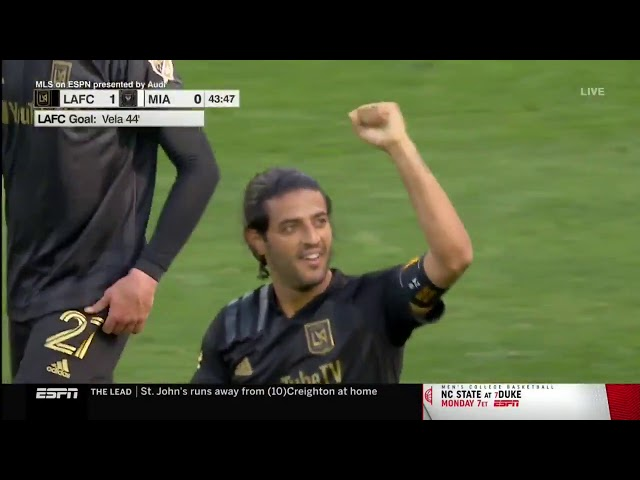 CARLOS VELA CHIPS IT FROM 20 YARDS! LAFC 1 - 0 MIA