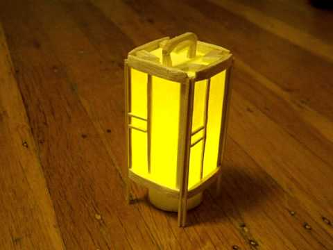 Miniature Japanese Floor Lantern - YouTube