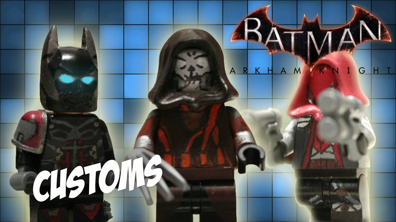 *NEW* LEGO Custom Scarecrow, Arkham Knight and Red Hood ...