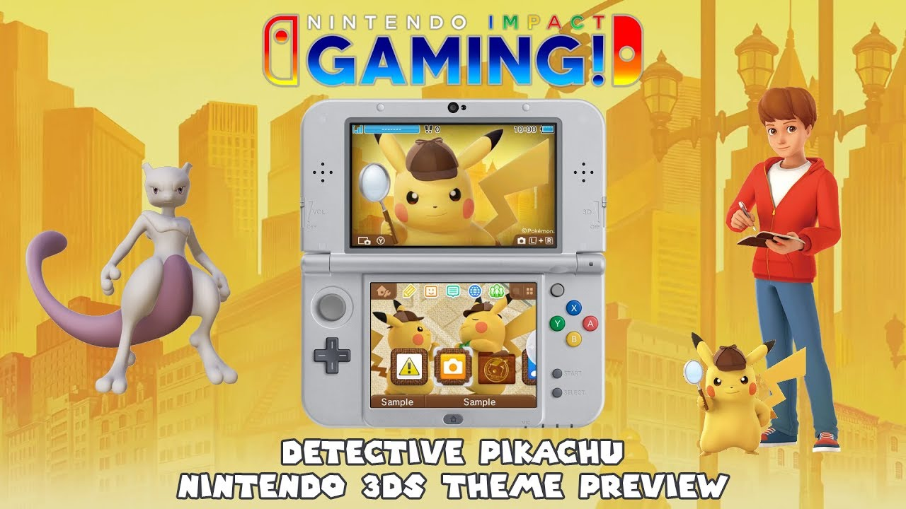 Detective Pikachu Nintendo 3ds Theme Preview Youtube
