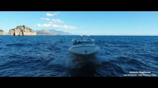 Giro in barca vista drone
