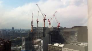 Tokyo during 9.0 magnitude earthquake - Mar 11 2011