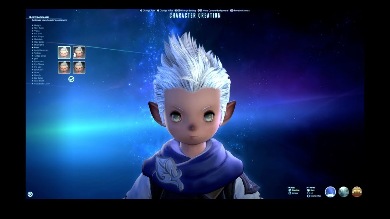 Final Fantasy XIV: A Realm Reborn Male Lalafell Character Creation HD