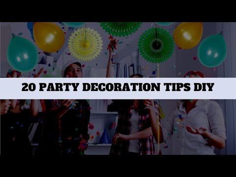 20 DIY Easy & Cheap Party Decorations Ideas | Ballons, Garland, Popsicle, Tissue Paper, Flour & More