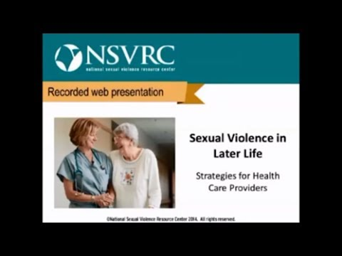 Sexual Violence in Later Life: Strategies for Health Care Providers