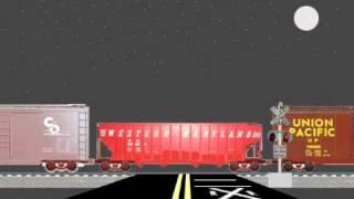 Railroad Crossing - Night