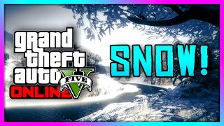 GTA 5 Xbox One - Snow is HERE! - Snow DLC Gameplay & Snowball Fight! (GTA V)