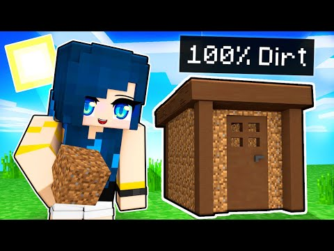 Minecraft but I can only BUILD with Dirt!