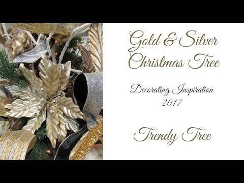 2017 Gold & Silver Christmas Tree Inspiration from Trendy Tr