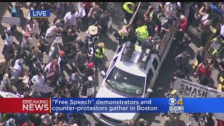 Roxbury Counter Protesters March To Boston Common