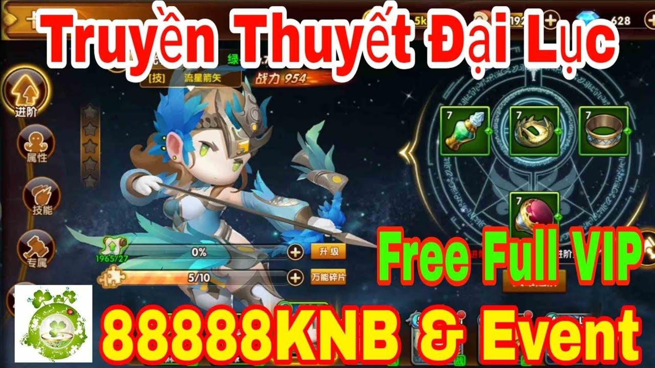 Truyền Thuyết Đại Lục Mobile | Free Full VIP16 - 88888KNB Đầu Game & Event + Quà Tân Thủ Giá Trị