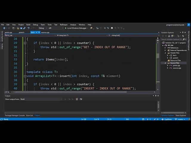 C++ - DYNAMICZNE STRUKTURY DANYCH - ARRAYLIST