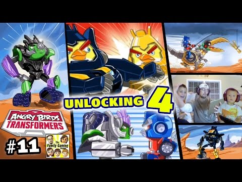 Angry Birds Transformers Part 11!  Unlocking Goldbite Grimlock, High Octane Bumble Bee & 2 More!!