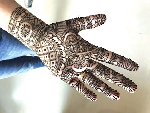 LEARN SIMPLE TRADITIONAL INDIAN MEHENDI FOR HANDS | EASY RAJASTHANI HENNA MEHNDI DESIGN  TUTORIAL
