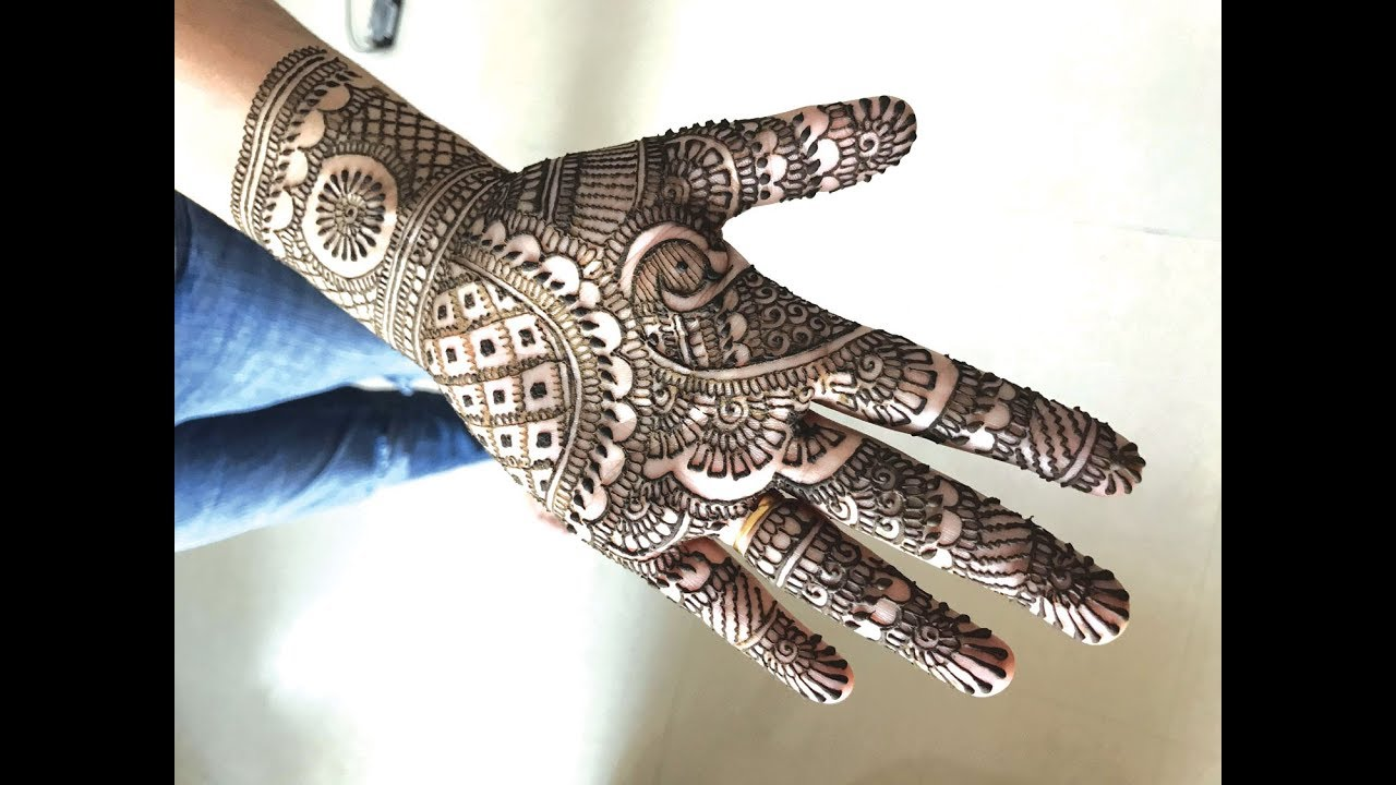 Learn Simple Traditional Indian Mehendi For Hands Easy Rajasthani