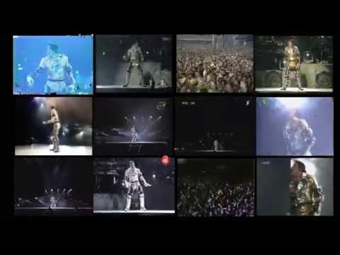 Michael Jackson - Scream  Live  - split screen - 12 concerts HD 720p