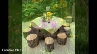100 Log Wood DIY Creative Ideas 2016 - Log wood home ideas -newest house