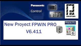 crear nuevo proyecto fpwin pro v6 411 software panasonic pda control