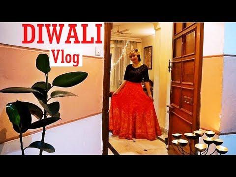 Diwali Vlog 2017 - Diwali Puja and celebrations at Home | Indian Youtuber