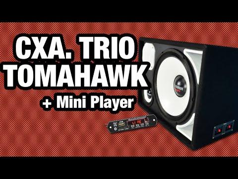 Player Bluetooth e Placa USB BT com Mp3 na Caixa Trio Tomahawk 15
