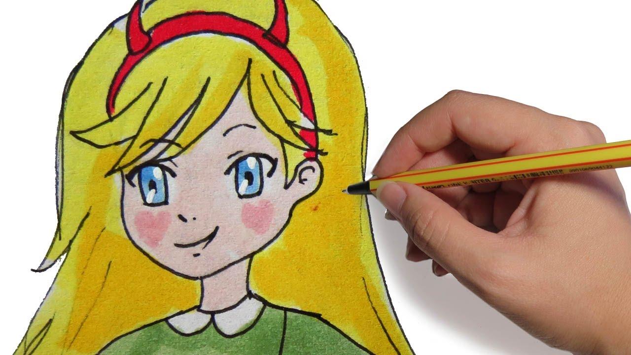 Star Contra Las Fuerzas Del Mal Dibujos: COMO DIBUJAR ANIME STAR DE STAR VS LAS FUERZAS DEL MAL