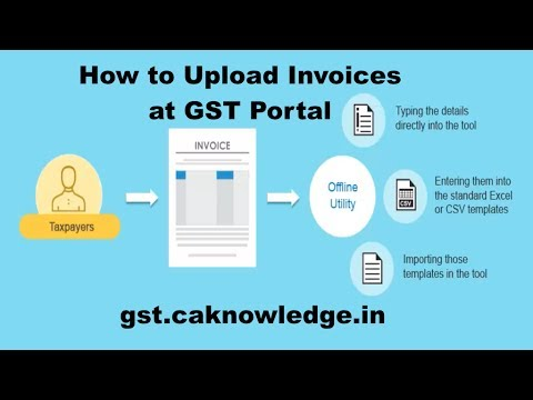 How to Upload GST Invoices at GST Portal by Excel Template - YouTube