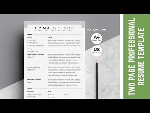 How to create Resume / CV design in Adobe