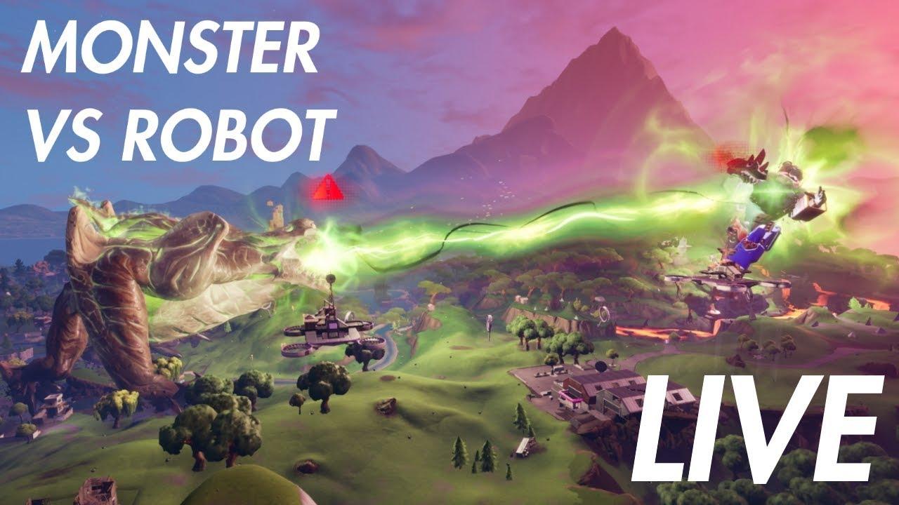 **INSANE** MONSTER VS ROBOT LIVE EVENT FORTNITE - YouTube