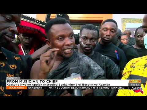 From Musician to Chief: Kaakyire Kwame Appiah enstooled Benkumhene of Bosomtwe Asaman (21-9-21)