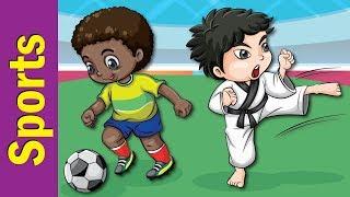 Learn Sports Names for Kids   Video Flash Cards   Kindergarten, Preschool & ESL   Fun Kids English