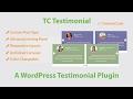 Best WordPress Testimonial Plugin - Create  A  Testimonial Slider Free 2017
